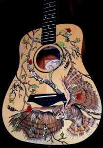great horned owl guitar